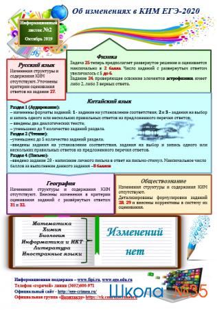 Информационный листок №2