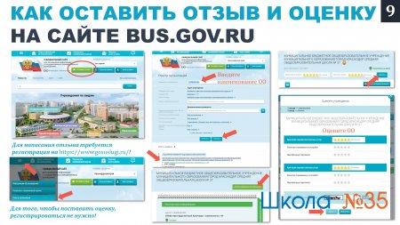 Как оставить отзыв и оценку на сайте BUS.GOV.RU