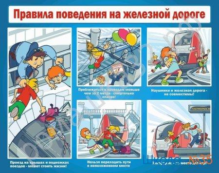 Правила безопасного поведения детей на железнодорожном транспорте